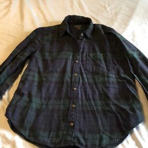 Navy and green soft flannel